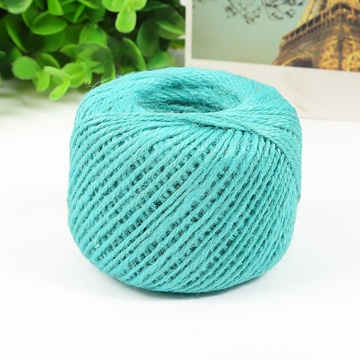 5X 150M Burlap Rope Hemp Cord Thread Jute String Roll DIY Blue