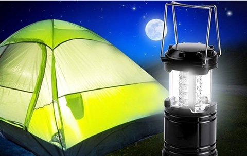 1X Ultra Bright Collapsible 30 Led Camping Lanterns Light Emerge