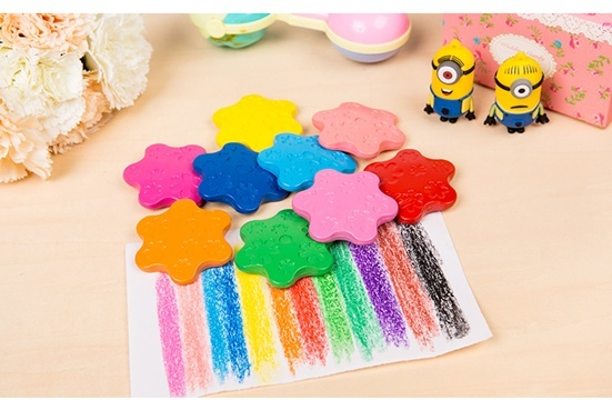 12Colors HQ Non Toxic Drawing Creative Snowflake Painting Crayon
