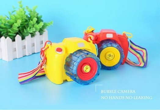 3X Camera Bubble Blower Maker Outdoor Bubble Machine With Light
