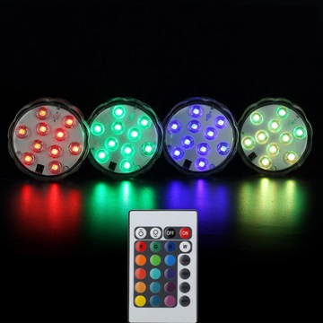 1X Waterproof 10 Led Light Submersible Light Remote Control
