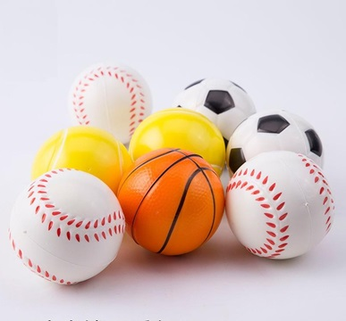 12 Anti-Stress PU Foam Football Basketball Etc Squeeze Reliever