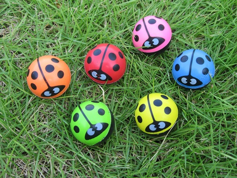 100X Amazing Beetle Rubber Bouncing Balls 30mm Mixed