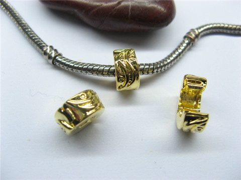 10 Gold Plated Pandora Stopper Beads Clips pa-c27