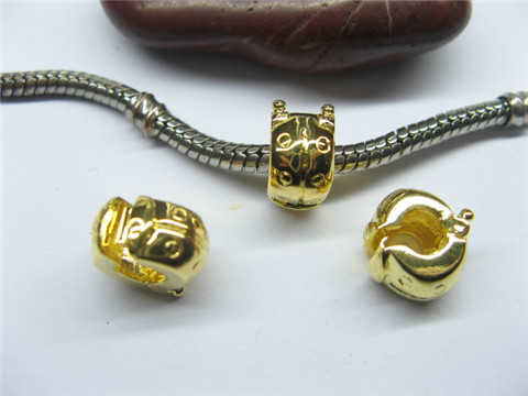 10 Gold Plated Ladybug Pandora Stopper Beads Clips pa-c28