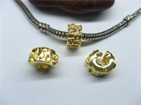 10 Gold Plated Pandora Stopper Beads Clips pa-c29