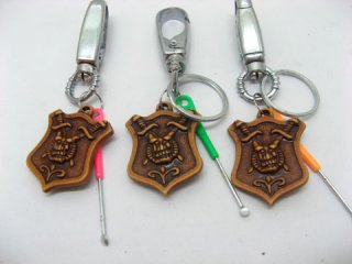 100X Resin Key Rings with Curette Bag Dangles
