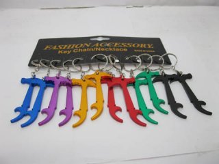 12 Aluminum Alloy Hammer Key Rings Mixed Colour