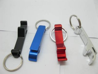 12 Aluminium Alloy Bottle Opener Key rings Mixed Color