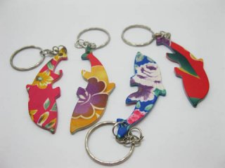 12 Aluminium Colored Dophin Bottle Opener Key Rings