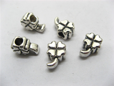 100 Charms Metal Leaves Pandora beads ac-sp516