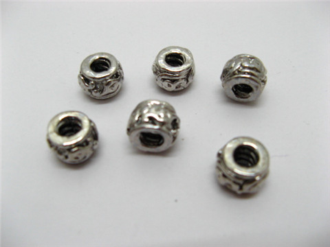 20 Alloy Pandora Carved Metal Thread Beads ac-sp274