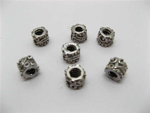 60 Alloy Pandora Carved Metal Thread Beads ac-sp279