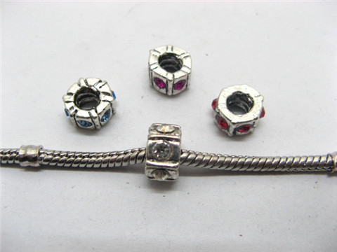 100 Pandora Thread Beads With Rhinestone ac-sp496