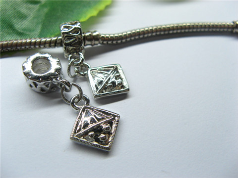 20 Alloy Thread Pandora beads with Square Dangle pa-m239