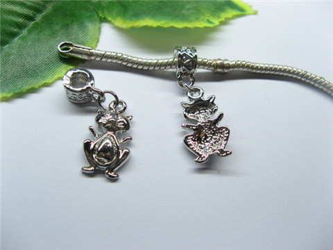 20 Alloy Thread Pandora beads with Frog Dangle pa-m244