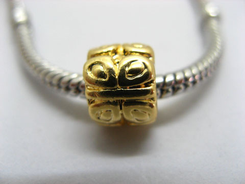 50X18K Gold Plated Pandora Barrel Thread Beads ac-sp385
