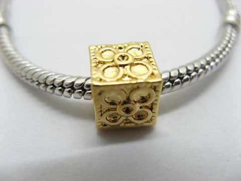 50X18K Gold Plated Pandora Cubic Thread Beads ac-sp386