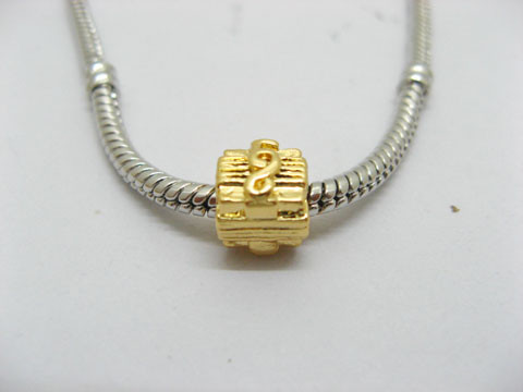 50X18K Gold Plated Pandora Square Beads ac-sp405