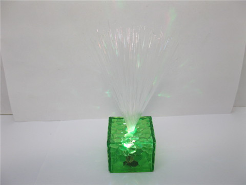 4Pcs Flashing Lighting Fibre Optic Lamp Green Base Wedding Favor