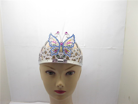 12 Beautiful Flashing Butterfly Tiara w/Optic Lamp