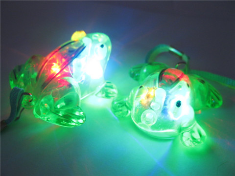 48Pcs Flashing Frog Necklaces For Disco Party
