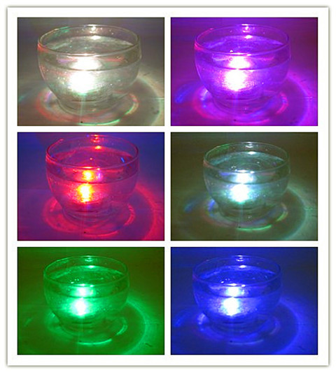 12X Waterproof LED Multicolor Submersible Lights Candles Wedding