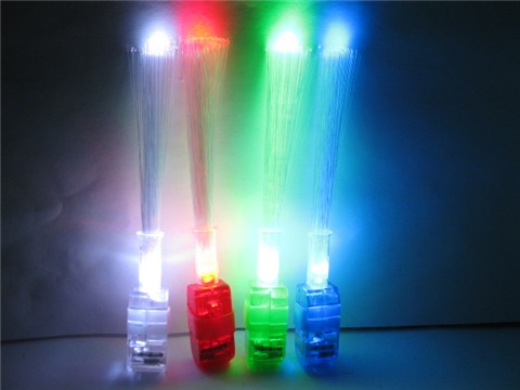 10Pkts X 4Pcs Flashing Finger Fiber Optic Sticks