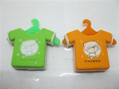 24 Novelty Boy T shirts Erasers Mixed Colour