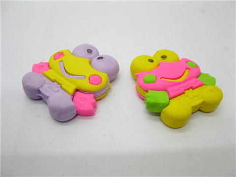 36X New Novelty Cartoon Frog Erasers Mixed Colour
