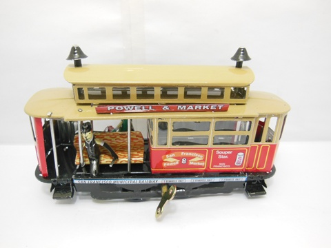 1X Collectable Steam Tram Electric Bus Tin Wind-Up
