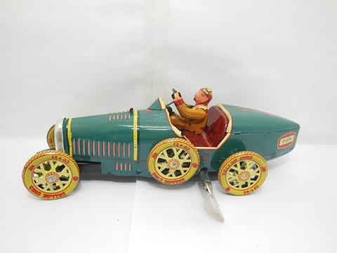 1X Collectable Vintage Tin Wind-Up Sport Car