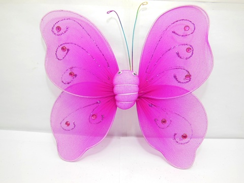 1X New Fuschia Butterfly Fairy Wings Dress-up