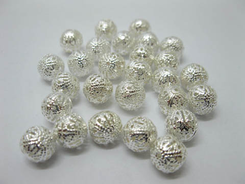 1000 Silver Plated Filigree Spacers Bead Size 10mm