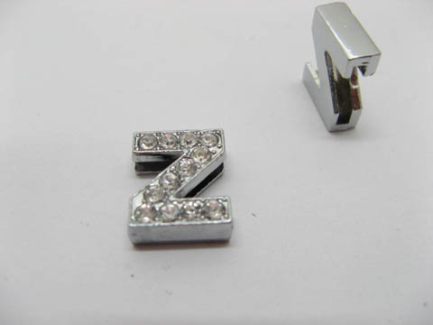 "10 Fashion Rhinestone Letter ""Z"" Beads Collar Charms"