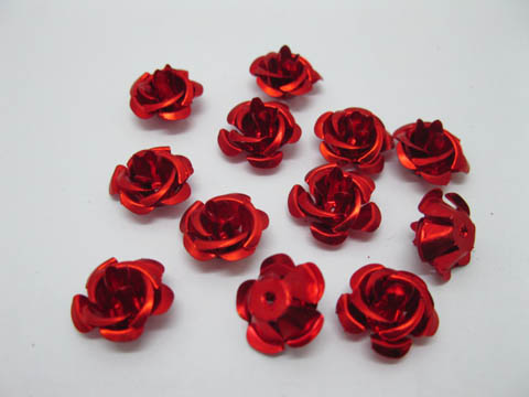 475Pcs Red Flower Beads Findings 15mm