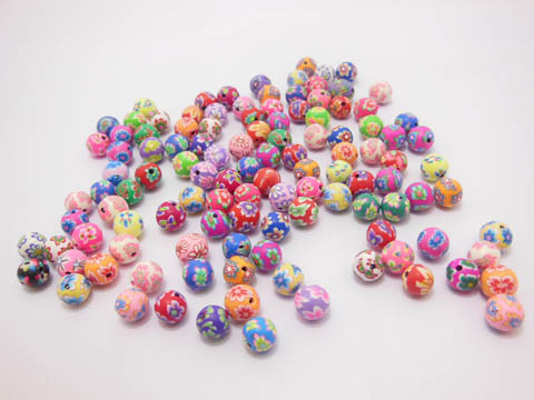 500 Polymer Clay Beads Finding 8mm Mixed