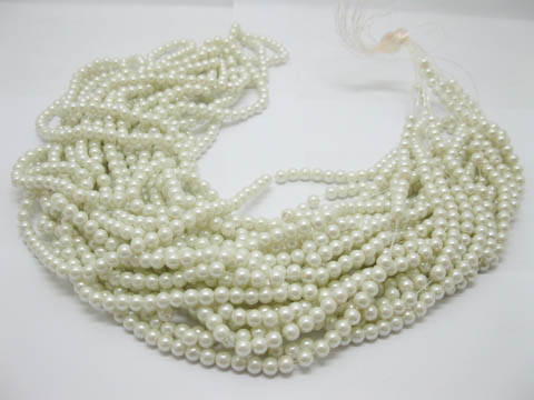 1Bag X 1700Pcs Glass Pearl Color Pearl Beads 6mm Dia.