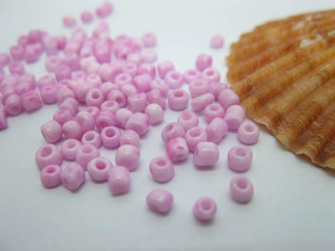 1Bags X 30000Pcs Opaque Glass Seed Beads 2mm Pink