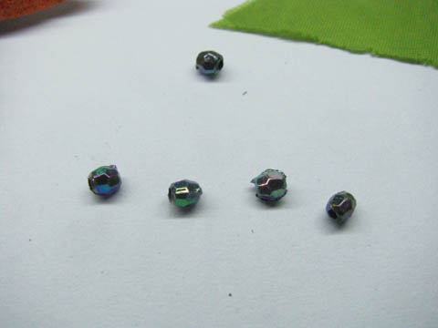 22000Pcs Shiny Colorful Faceted Round Beads 4mm Finding
