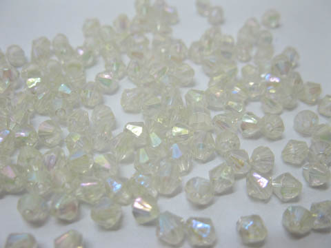 5000pcs Clear Plastic Bicone Beads Finding 5x5mm