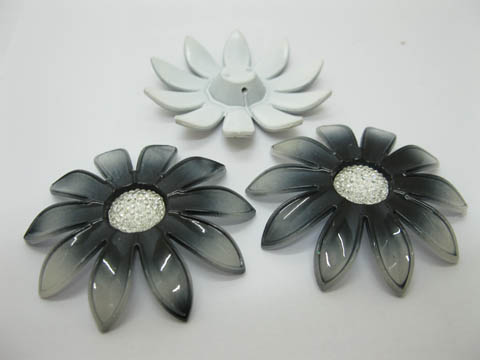 20Pcs Black Blossom Sunflower Hairclip Jewelry Finding Beads 6cm