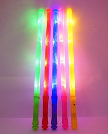 10X New Plain Colourful Light Flashing Sticks