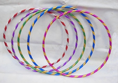 10 New Colorful Hula Hoops Exercise Sports Hoop 55cm