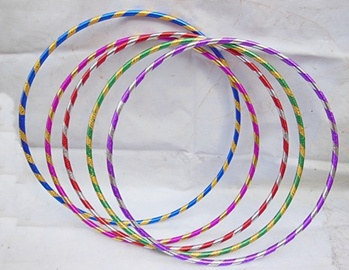 10 New Colorful Hula Hoops Exercise Sports Hoop 65cm