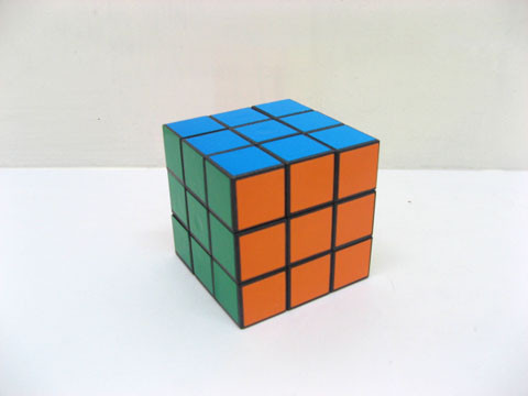 12Pcs Colourful Plain Magic Puzzle Cube 6x6cm