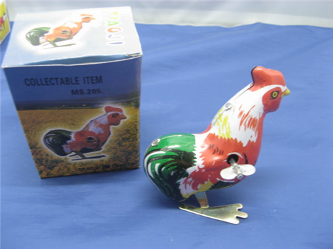10 Metal Tin Wind up Rooster Crazy Toy toy-m38