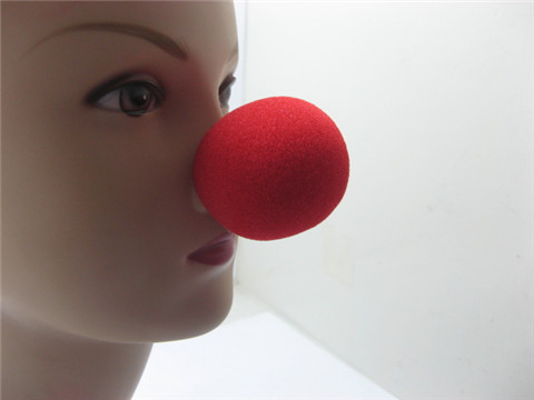 50 Red Foam Clown Noses for Fancy Dress Party