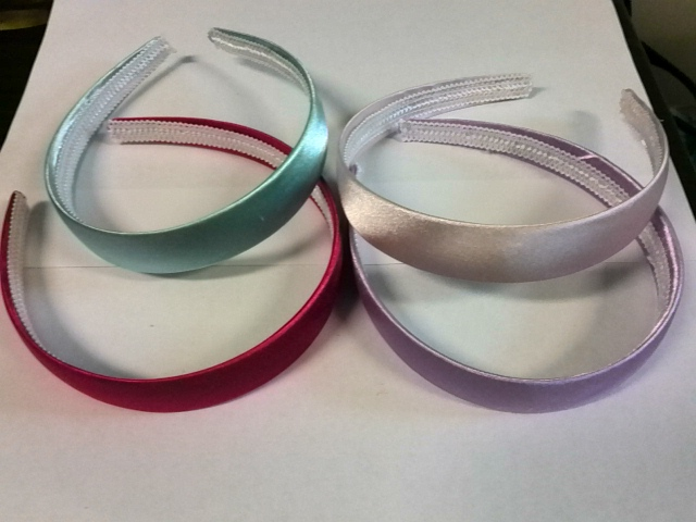 12 Head Band with satin cover 4 colours