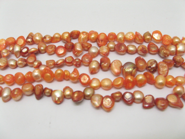 5 strand pink fresh water pearl beads
